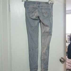 Ag Adriano Goldschmied Jeans - Light gray super skinny ankle Ag jeans